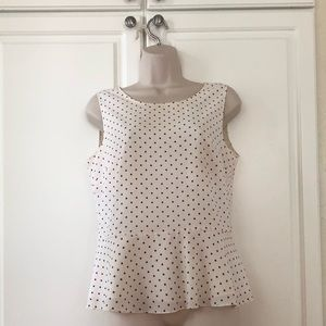 Darling red and white polka dot top by Talbots 10P